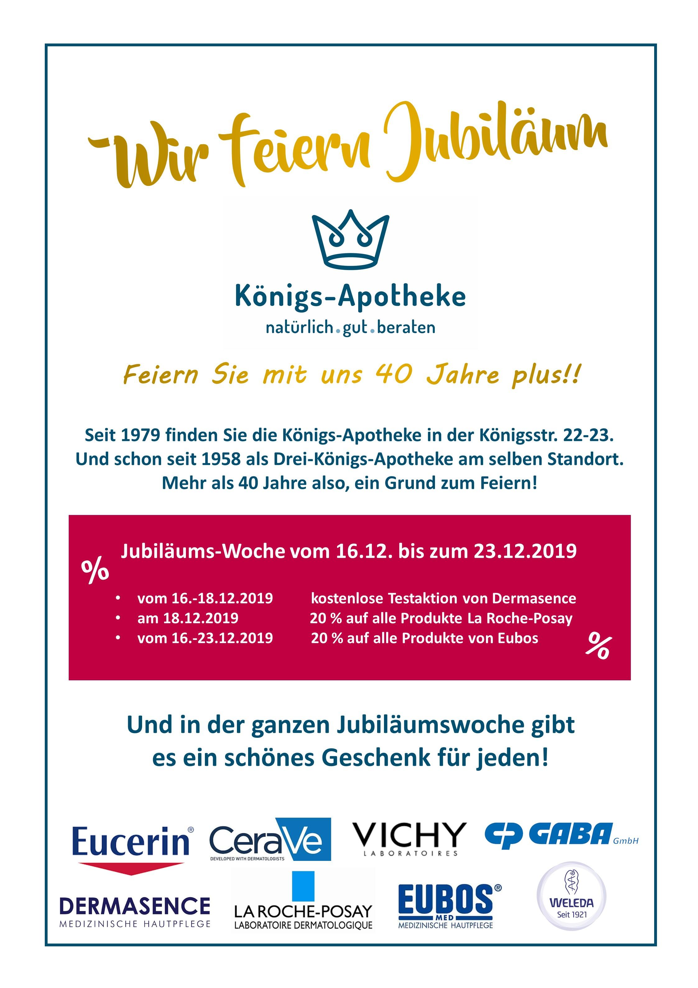Jubiläum - Königs-Apotheke Münster
